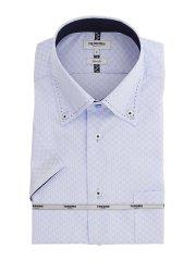アイスカプセル形態安定 スリムフィット ボタンダウン半袖シャツ