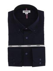 形態安定 スタンダードフィット 3枚衿ボタンダウン長袖シャツ