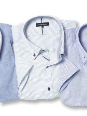 【大きいサイズ】グランバック/GRAND-BACK Biz パイピングボタンダウン半袖カットシャツ
