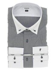 【大きいサイズ】レノマオム/renoma HOMME  形態安定3枚衿スナップダウン クレリック長袖シャツ