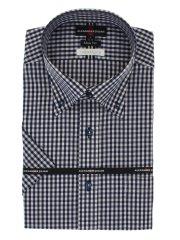 接触冷感形態安定スリムフィット ドゥエボタンダウン半袖シャツ