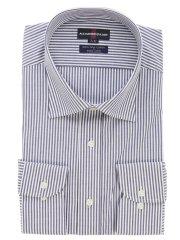 【大きいサイズ】アレキサンダージュリアン/ALEXANDER JULIAN 綿100%形態安定ワイドカラー長袖シャツ