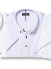 【大きいサイズ】HIROKO KOSHINO HOMME ハイブリットセンサードゥエボタンダウン半袖シャツ