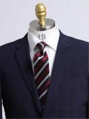 日本製ふじやま織り シルクストライプ柄レギュラータイ8.0cm幅