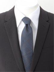 スーツ地 チェック柄 レギュラータイ 8.0cm幅