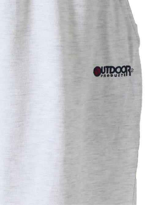 【大きいサイズ】アウトドアプロダクツ/OUTDOOR PRODUCTS 裏毛リブボーダー ハーフパンツ