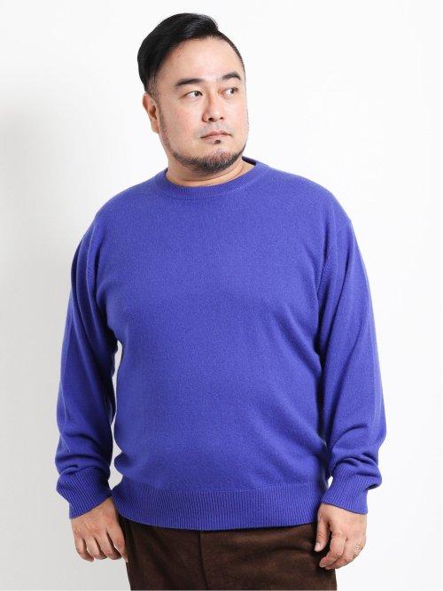 【大きいサイズ】アレキサンダージュリアン/ALEXANDER JULIAN カシミヤ無地クルーネックセーター