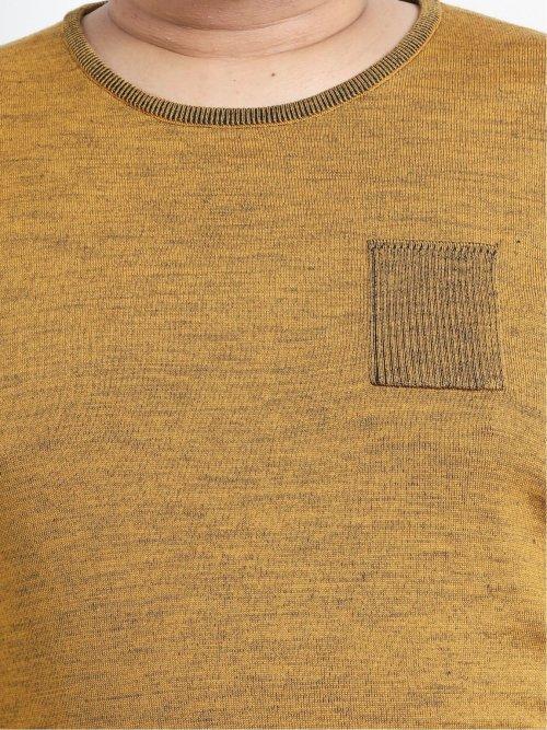 【大きいサイズ】ジーステージ/G-stage ウール二重臼クルーネックセーター
