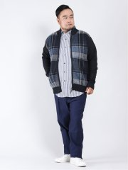 【大きいサイズ】ヘンリーバル/HENRY VAL 裏フリース フルジップセーター