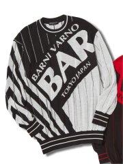 【大きいサイズ】バーニ ヴァーノ/BARNI VARNO ジャガード クルーセーター