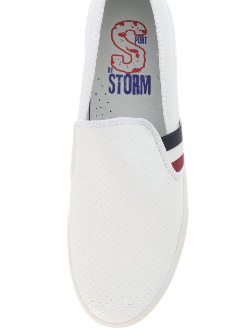 【大きいサイズ】ストーム/STORM スリップオンレザースニーカー