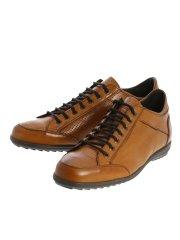 【大きいサイズ】アラウンドザシューズ/around the shoes MADE IN ITALY パンチング レザースニーカー