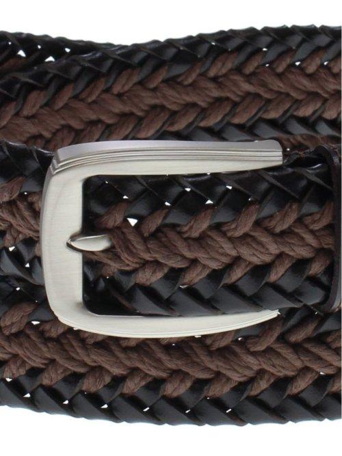 【大きいサイズ】グランバック/GRAND-BACK サイド革紐コンビメッシュベルト