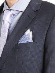 アレキサンダージュリアン/ALEXANDER JULIAN MADE IN ITALY ミニ小紋柄シルクチーフ