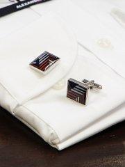 ネクタイ柄カフス