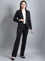 リクルート 2釦ジャケット+スカート+パンツ 黒無地