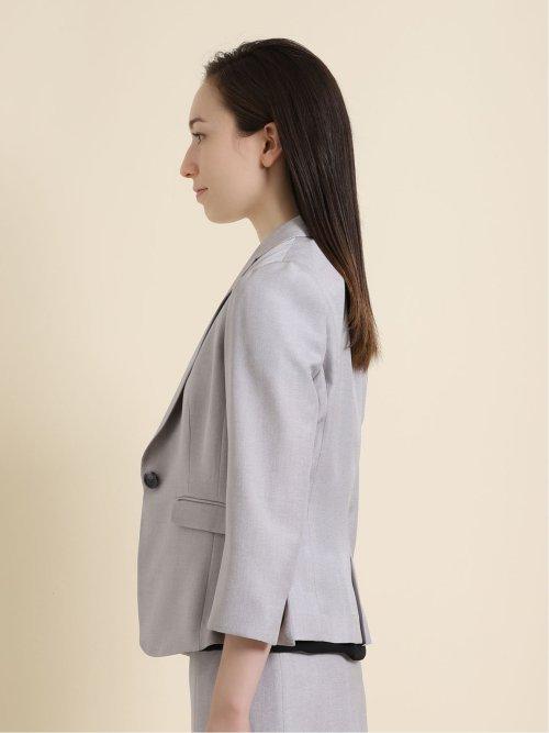 エリコワルツ 1ボタンジャケット+スカート ライトグレー
