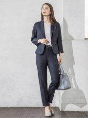 エリコワルツ 1ボタンジャケット+パンツ 紺