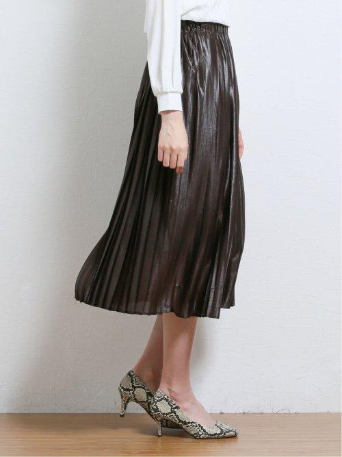 レザーライク エスパンディープリーツスカート