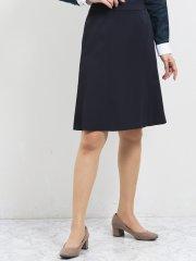 2WAYストレッチ セットアップフレアースカート シャドーストライプ紺
