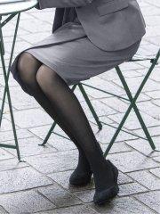 ストレッチウォッシャブル セットアップ ラップ調スカート グレー