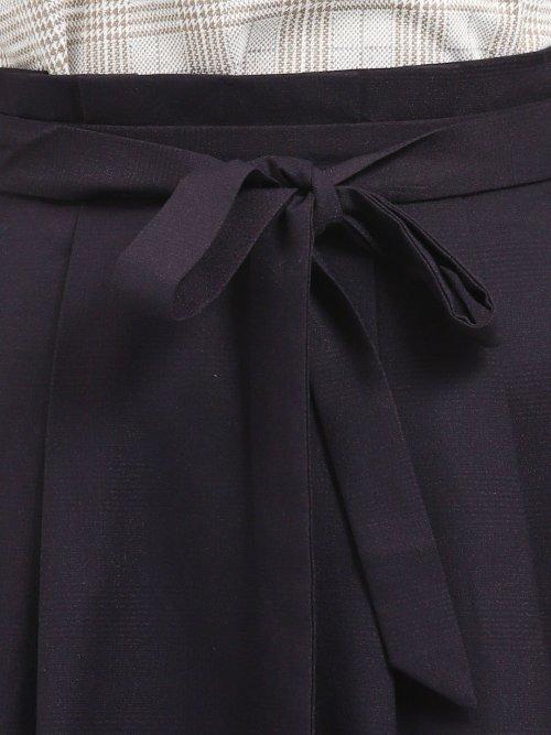 ハイウエスト リボン付きフレアースカート