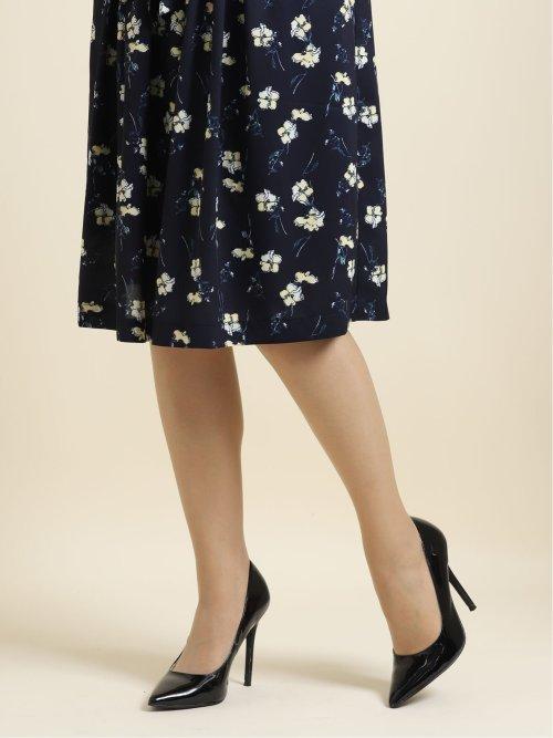 花柄タックフレアースカート
