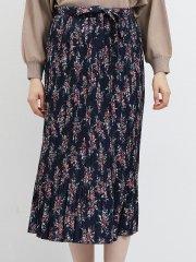 プリーツロングスカート 花柄
