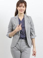 モクロディー セットアップ1釦7分袖ジャケット グレー