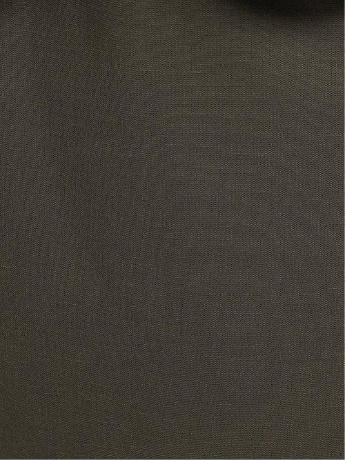綿麻シャーク セットアップ カラーレスジャケット 茶