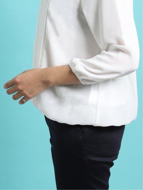 つまみパール 8分袖プルオーバーブラウス