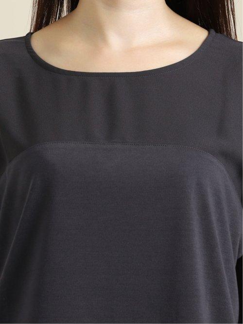 布帛切替 クルーネック半袖ゆるTシャツ