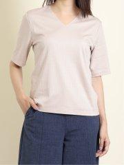 針抜き Vネック半袖Tシャツ