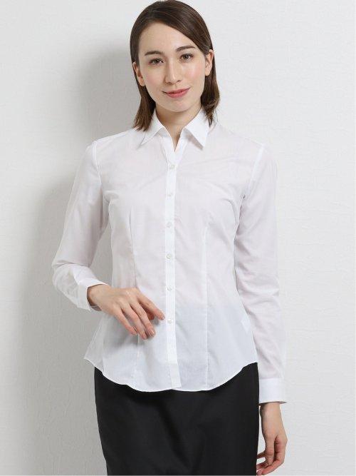 形態安定ブロード レギュラーカラースキッパー長袖シャツ