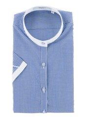 抗ウイルス形態安定  バンドカラー半袖シャツ