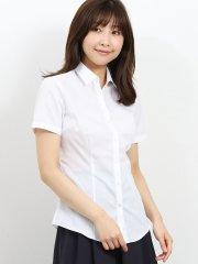 形態安定レギュラーカラースキッパー半袖ツイルシャツ