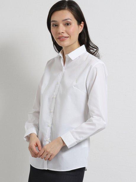 形態安定ストレッチ レギュラーカラースキッパー長袖シャツ