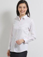 形態安定ストレッチ レギュラーカラー長袖シャツ