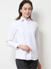 【透け防止】形態安定レギュラーカラー長袖シャツ