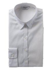 形態安定 シャドーストライプ柄レギュラーカラー長袖シャツ