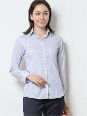 形態安定レギュラーカラー スキッパー長袖シャツ