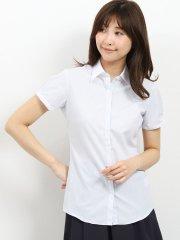 形態安定 レギュラーカラークレリック半袖シャツ