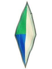 ブロッキング幾何学柄プリーツスカーフ