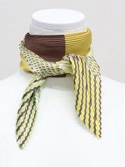 配色 プリーツスカーフ